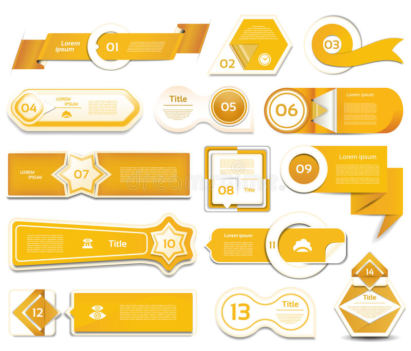 Modern infographics options banner. Vector illustration. can be used for workflow layout, diagram, number options, web design. Prints. Orange version. eps 10 stock illustration