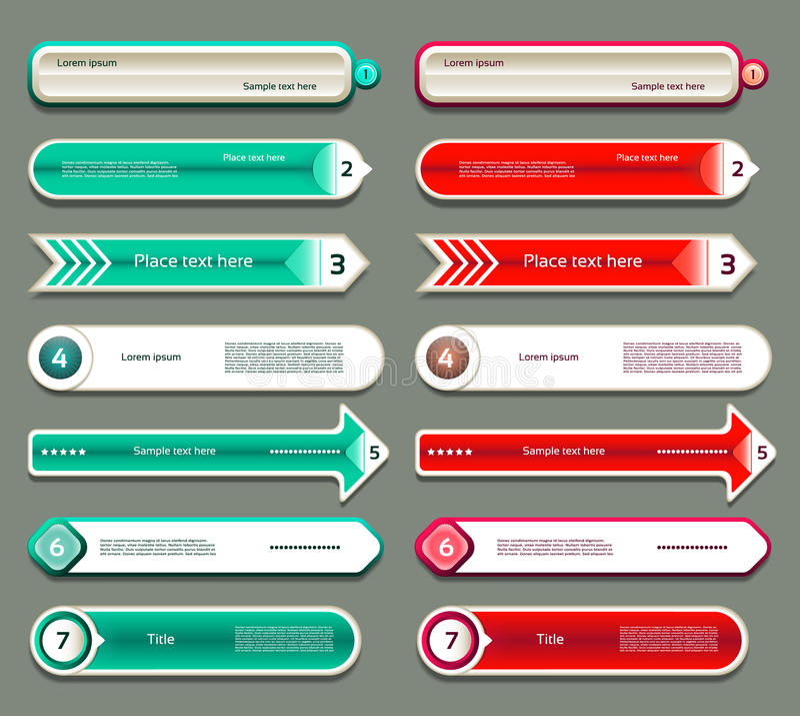 Modern infographics options banner. Vector illustration. stock illustration
