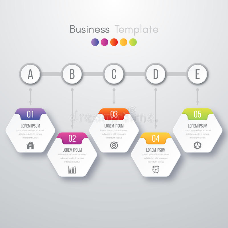 Modern infographics process template vector illustration