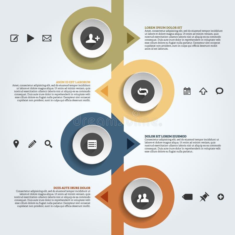 Modern infographics template vector illustration