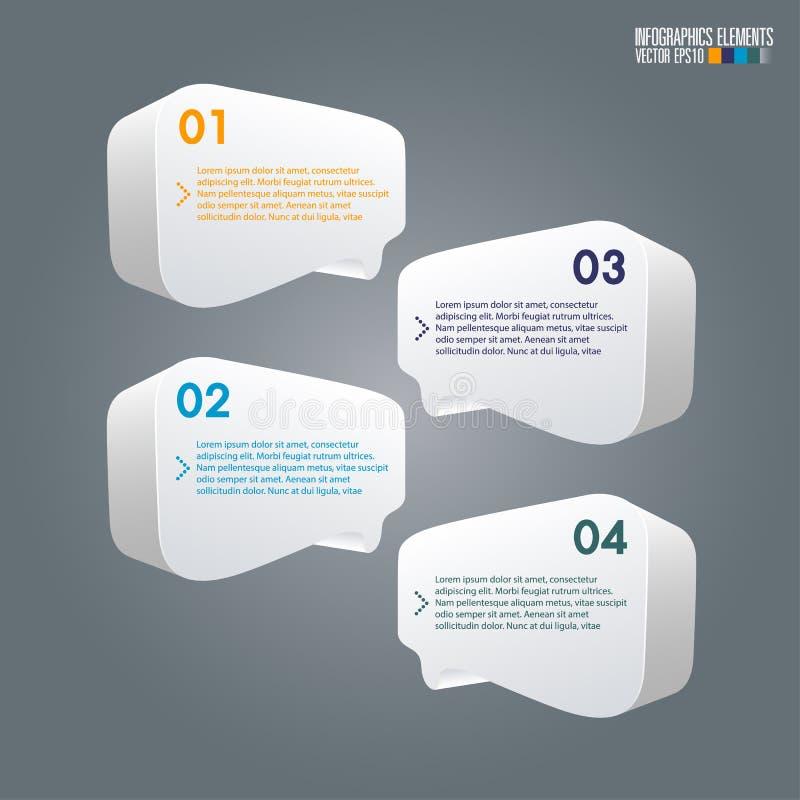 Modern infographicsmalplaatje stock illustratie