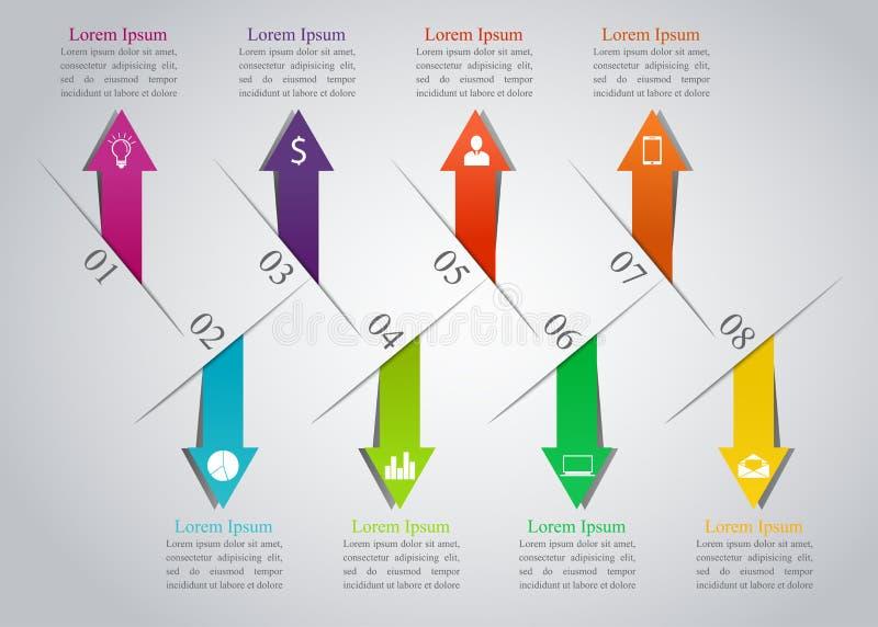 Modern infographicsontwerp stock illustratie