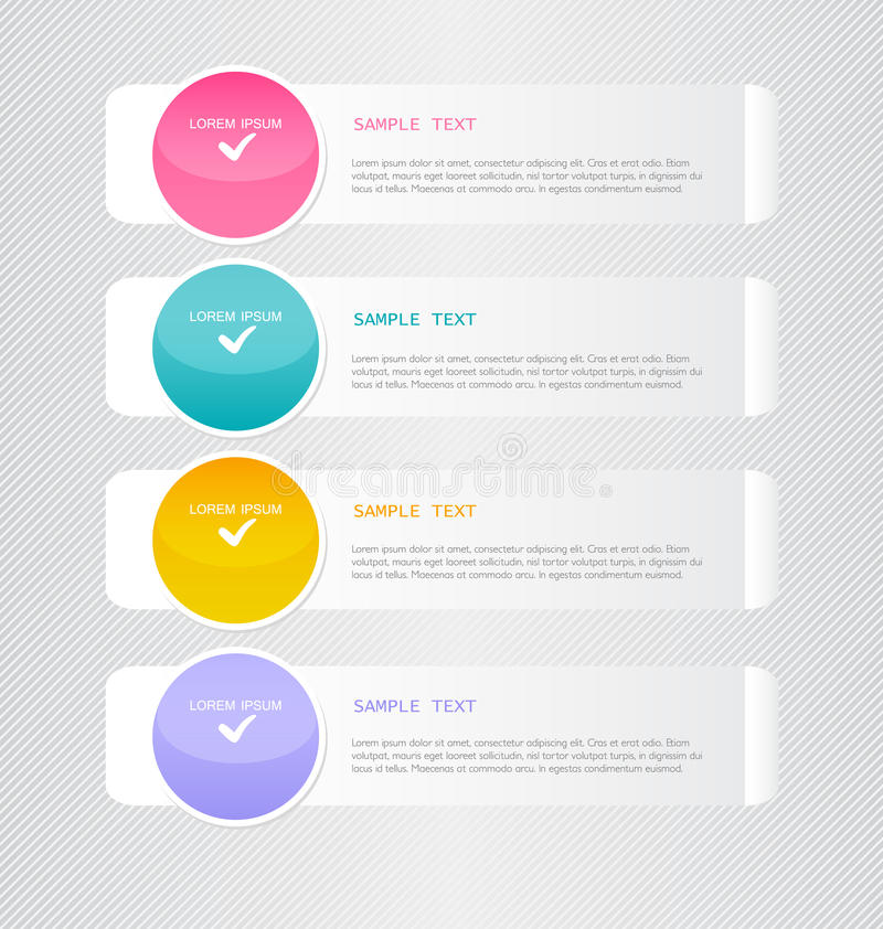 Modern inforgraphic template. Can be used for banners, website templates and designs, infographic posters, brochures, ads design. Modern inforgraphic template stock illustration