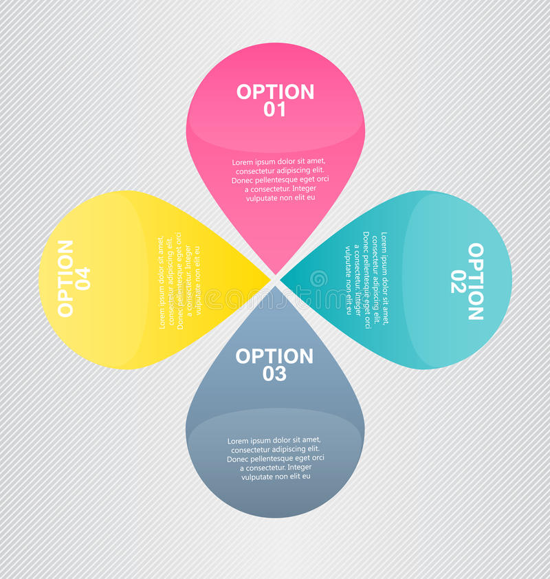 Modern inforgraphic template. Can be used for banners, website templates and designs, infographic posters, brochures, ads. Presentations, business, education stock illustration