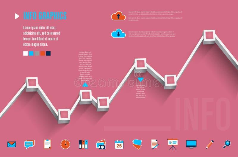 Modern informatie grafisch malplaatje stock illustratie