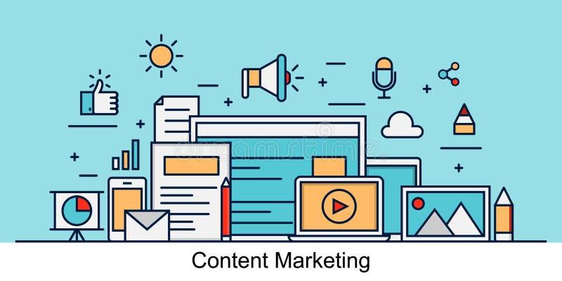 Modern inhoud marketing concept royalty-vrije illustratie