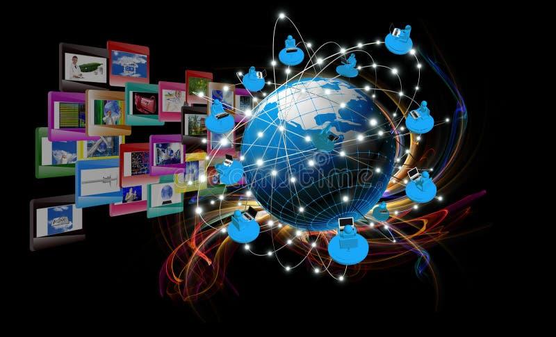 Modern innovation compiting technology. Globalization internet technology royalty free illustration