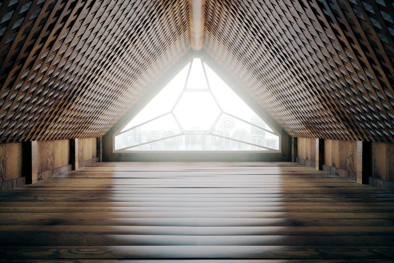 modern inre loft för design royaltyfri illustrationer