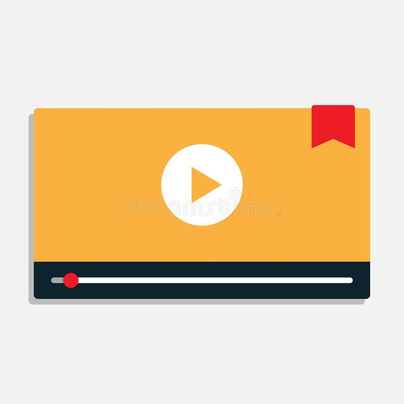 Modern interface video player royalty free illustration