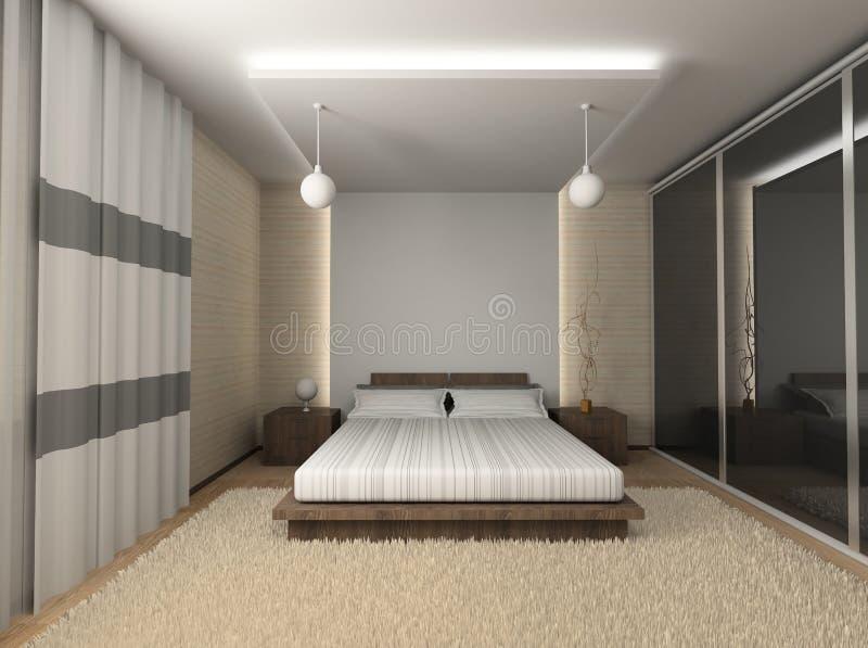 Modern interior. Qualitative design. 3D figure