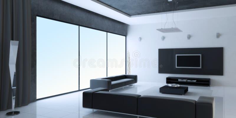 Download Modern interior stock illustration. Image of carpet, apartment - 12163642