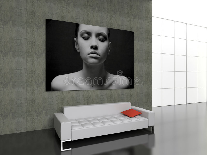 Download Modern interior. stock illustration. Illustration of house - 1759820