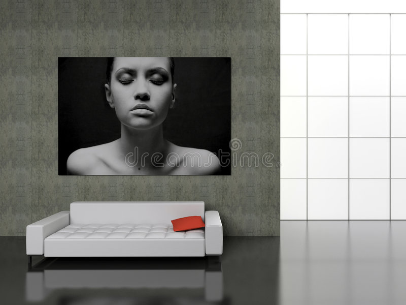 Download Modern interior. stock illustration. Image of house, beautiful - 1759830