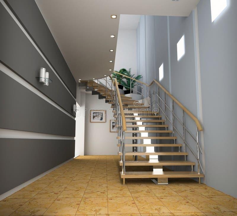 Modern interior stock image