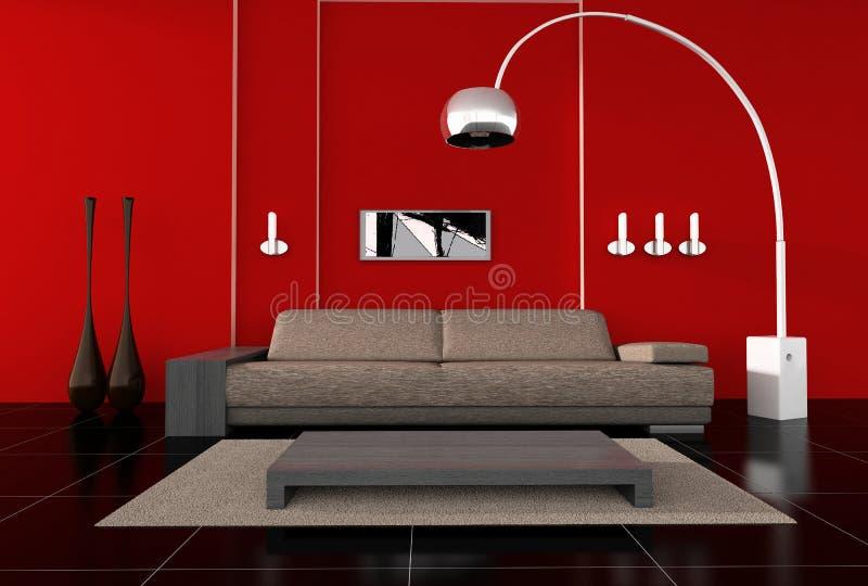 Modern interior stock illustration