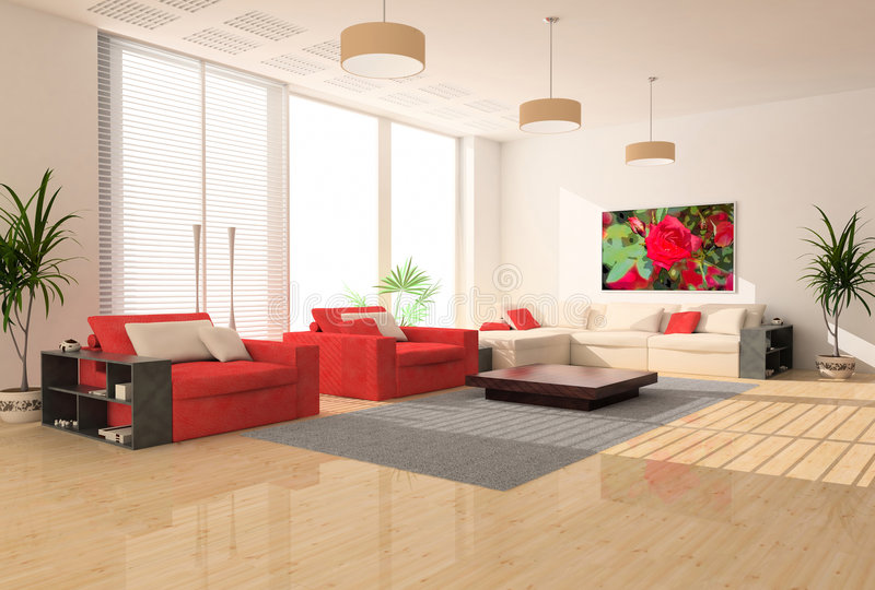 Modern interior stock images