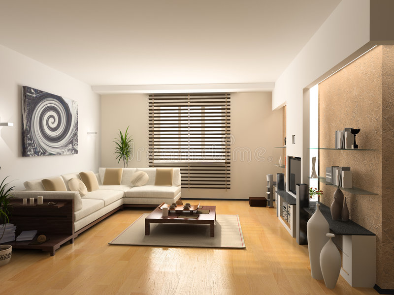 Modern interior royalty free stock images