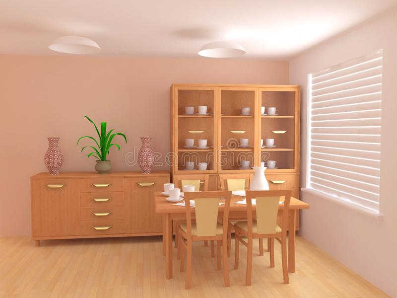 Modern interior 3d royalty free stock image