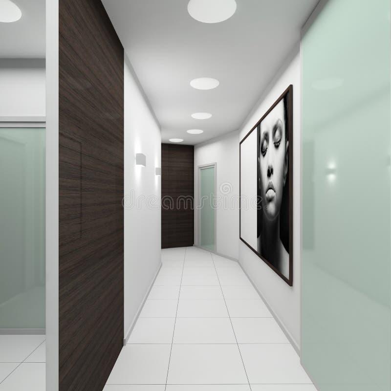 Download Modern interior. 3D render stock image. Image of doors - 4668173
