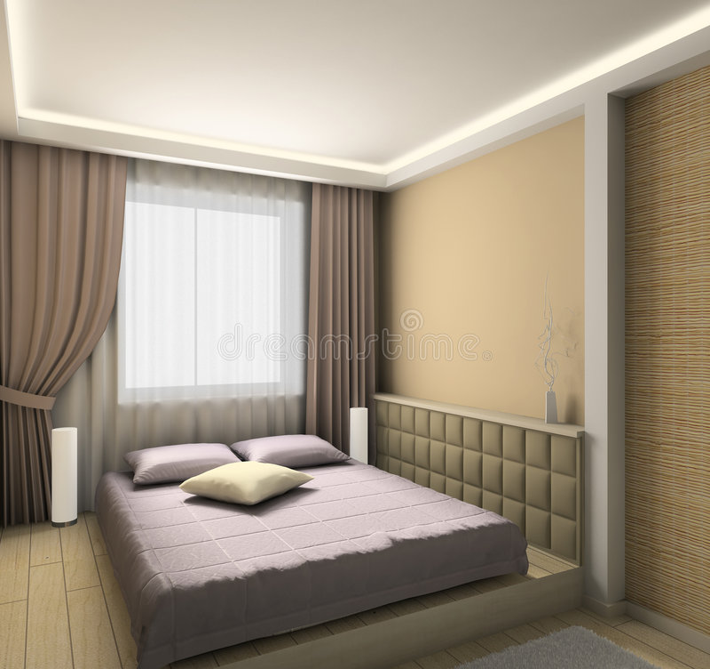 Modern interior. 3D render royalty free stock image