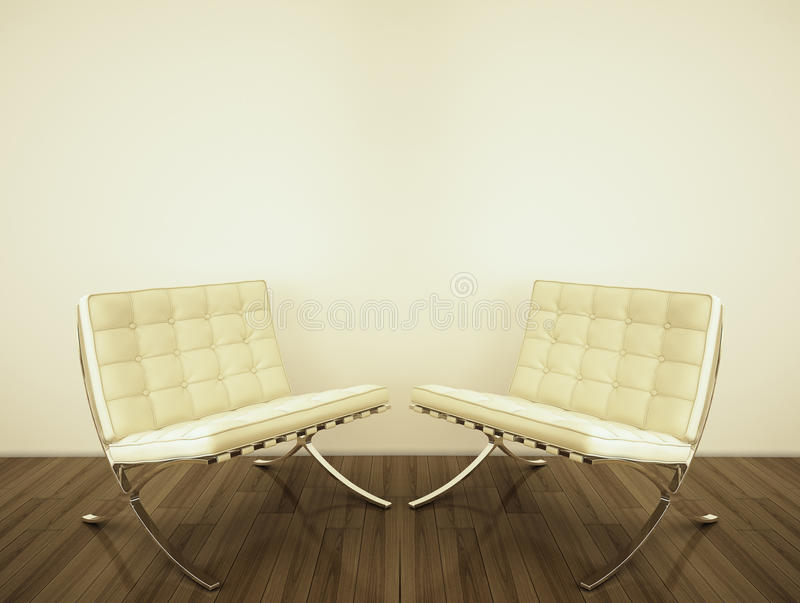 Modern Interior With 3d Rendering Stock Photos