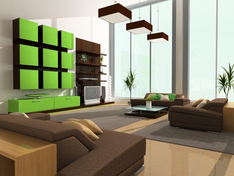 Modern interior stock illustrationer