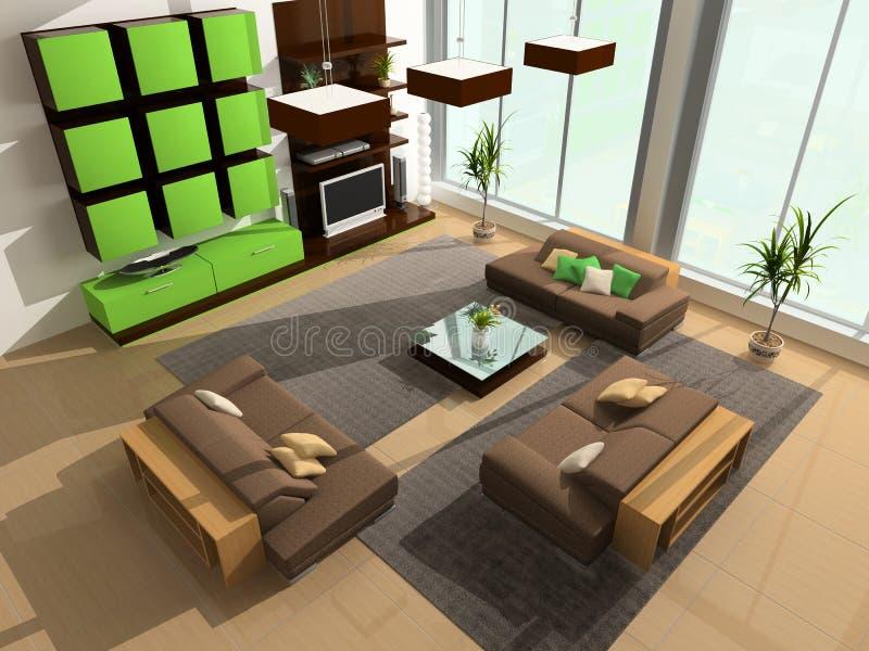 Modern interior vektor illustrationer