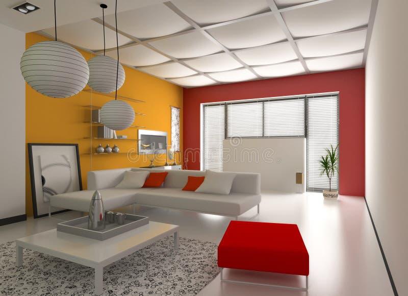 Modern interior royalty free illustration