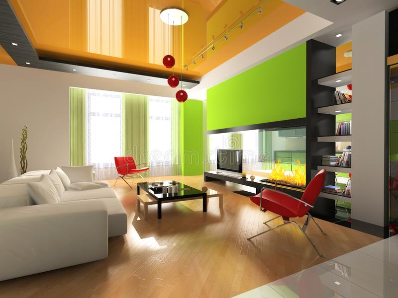 Modern interior royalty free stock image