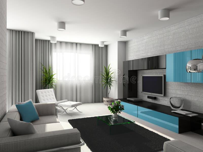 Modern interior. royalty free illustration