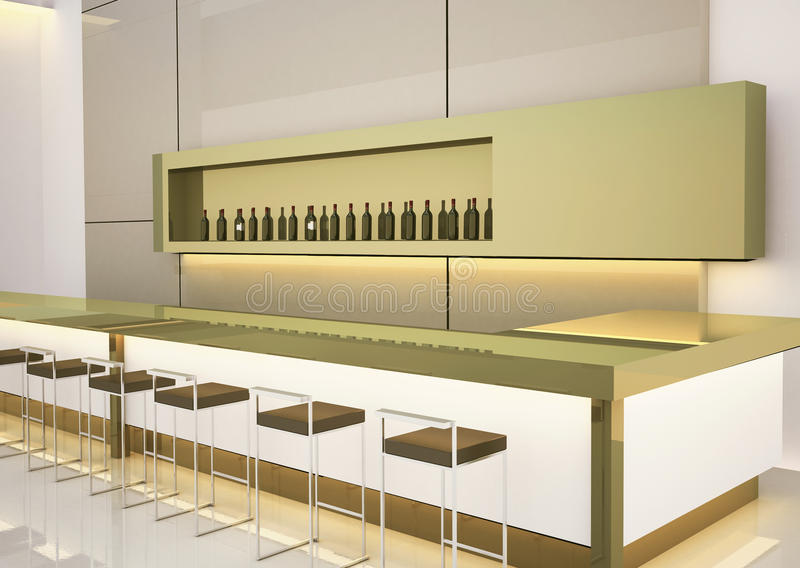 Modern interior bar stock illustration