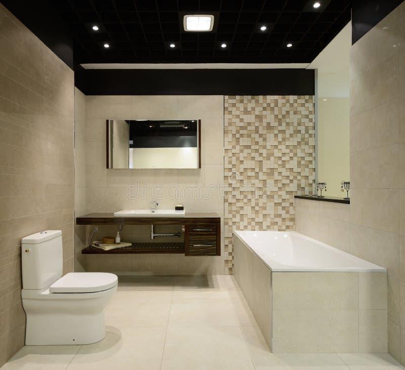Modern interior. Bathroom. Interior of modern bathroom. Exclusive design stock image