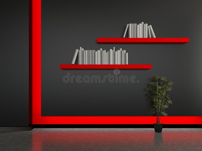 Download Modern Interior With A Book Shelves Stock Illustration - Illustration: 41181400