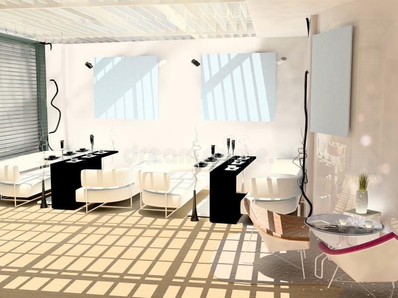 Download Modern interior cafe stock illustration. Image of modern - 26061714