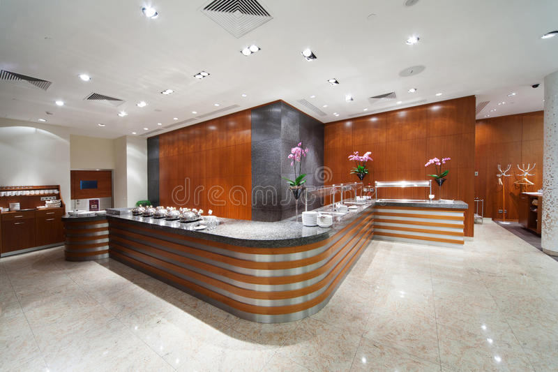 Interior of cafe bar. Modern interior of cafe bar stock photography
