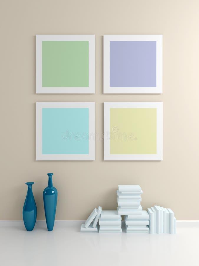 Modern interior composition. stock illustration