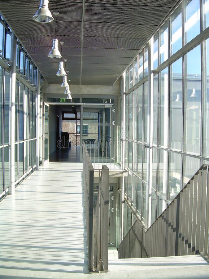 Download Modern interior corridor stock image. Image of glass - 39508497