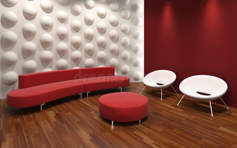 Modern interior design royalty free illustration