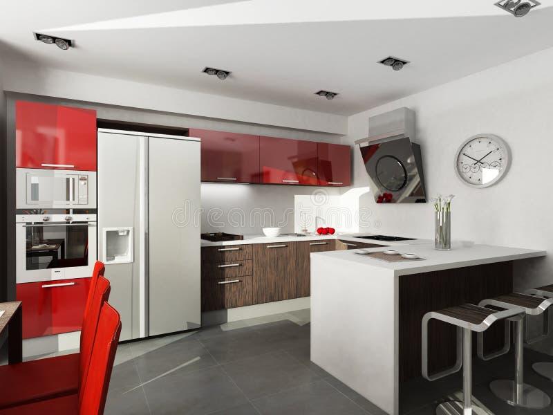 Modern interior design. (privat apartment 3d rendering