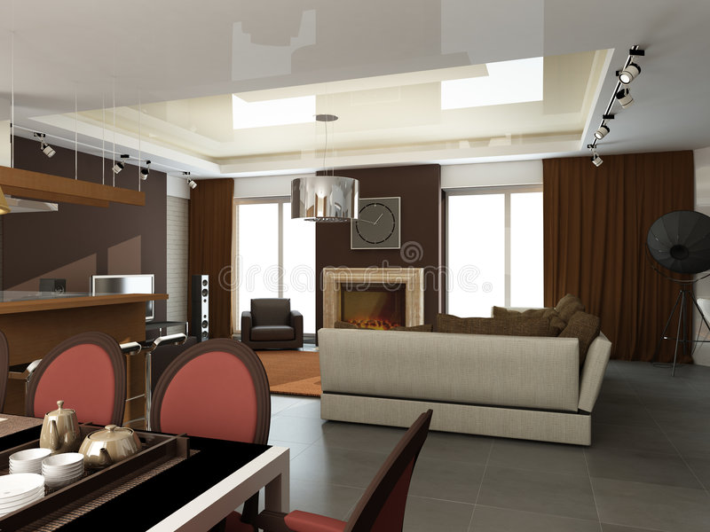 Download Modern interior design stock illustration. Image of classical - 7274334