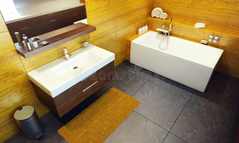 Download Modern Interior Design Of A Bathroom Stock Illustration - Illustration: 18831090