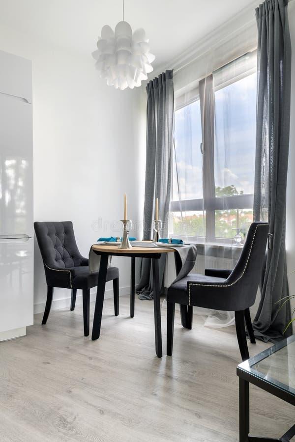 Modern interior design - kitchen corner stock photography