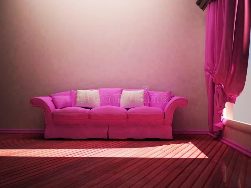Modern Interior Design Of Living Room Stock Illustration ...