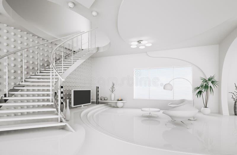 Download Modern Interior Design Of Living Room 3d Render Stock Illustration    Illustration Of Comfortable,
