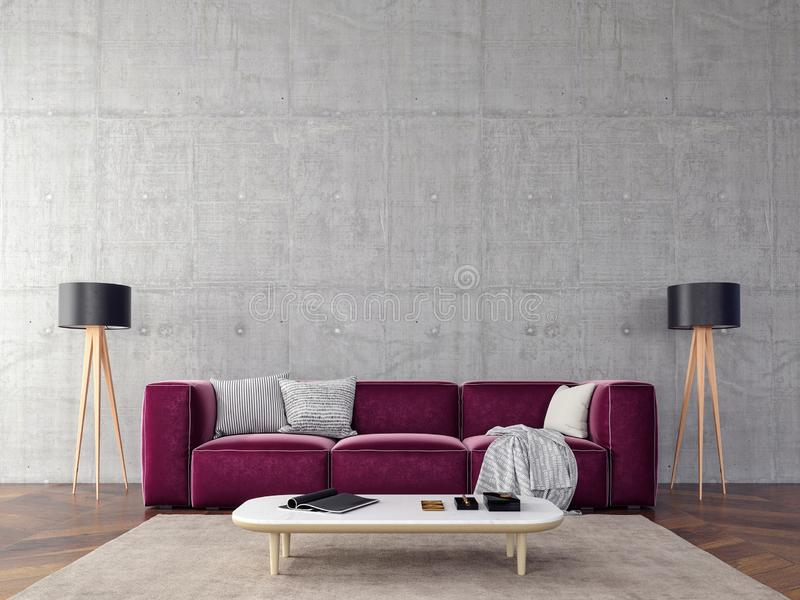 Red Purple Leather Chair Stock Illustration Illustration