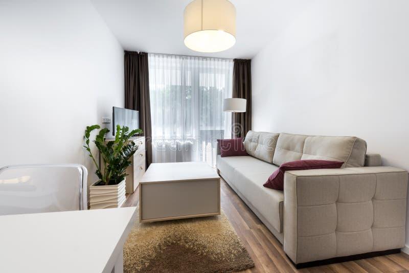 Modern interior design small room stock photography