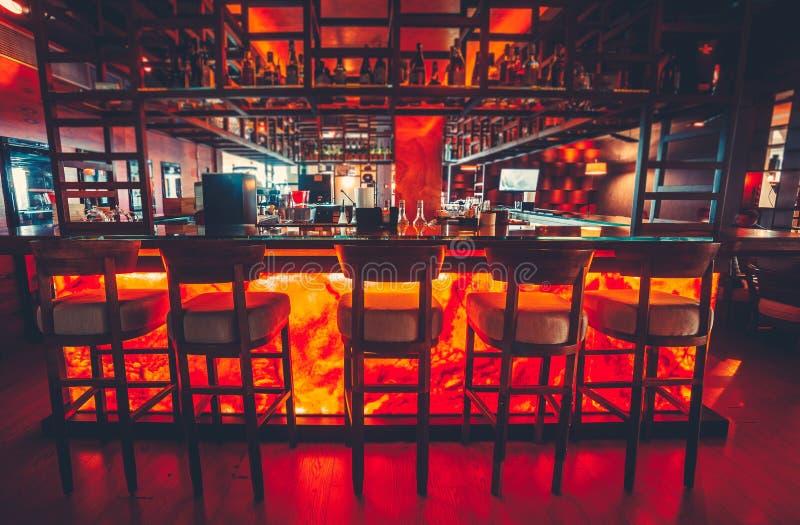 Modern interior of empty luxury restaurant royalty free stock images