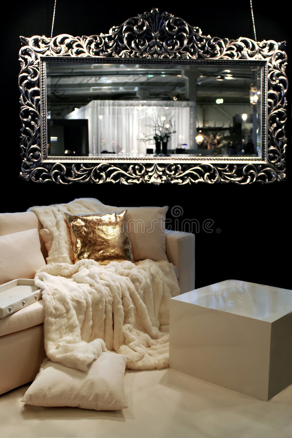 Download Modern Interior With Fur Cover Stock Image - Image of living, gorgeous: 2121405