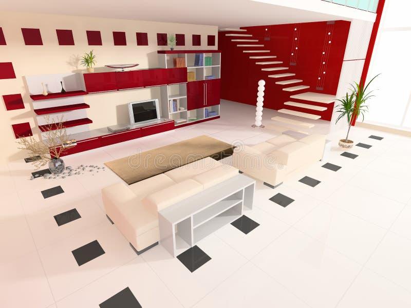 Modern interior of a hall. Modern interior of a room of rest vector illustration