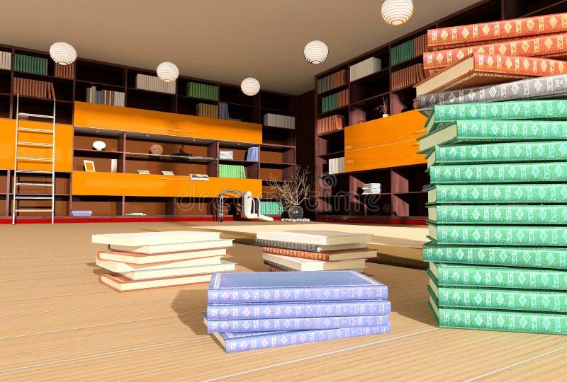 Download Modern interior of library stock illustration. Image of designer - 3587882